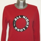 Plny Lala bluza All Night Long Red Sweatshirt