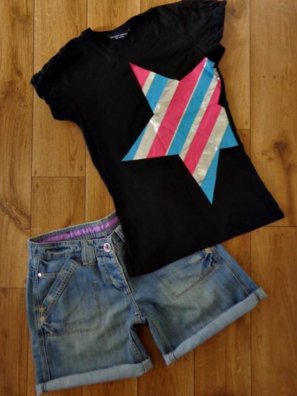 Spodenki DENIM spodenki jeans i tshirt 40 38