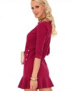 Urocza sukienka w kilku kolorach fioletowa S M L...