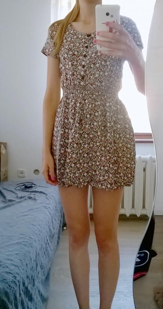Suknie i sukienki sukienka tunika w drobne kwiaty H&M