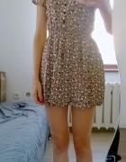 sukienka tunika w drobne kwiaty H&M...