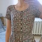 sukienka tunika w drobne kwiaty H&M