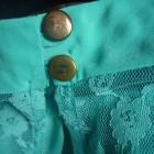 śliczna miętowa bluzeczka z koronką