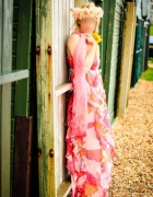 River Island przepiękna szyfonowa maxi sukienka