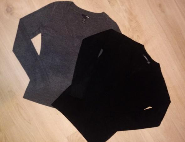 Sweterki szary S i czarny M