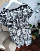 Sukienka czarnobiała L 40