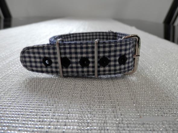 Pasek do Zegarka Massimo Dutti Materiałowy Dwuwarstwowy Przewlekany na Wakacje