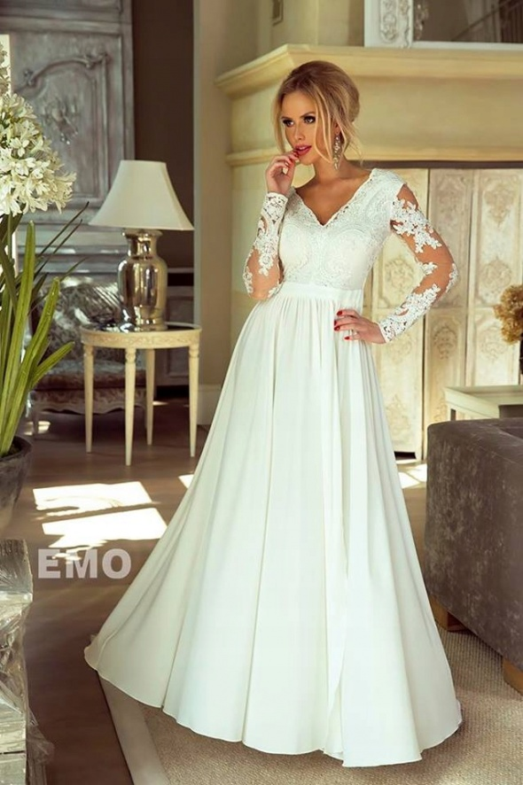Suknie ślubne Sukienka gipiura koronkowa ślubna wesele