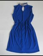 NOWA niebieska sukienka Wallis na szyję 40 L i 42 XL...