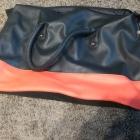 Granatowo czerwona duża torba A4 Avon