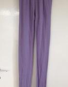 Legginsy fioletowe z koronką L 40 Eva fiolet piżama używane spo...
