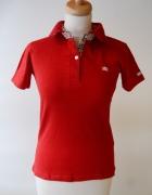 Polo Koszulka Czerwone Burberry Kołnierzyk XL 42...