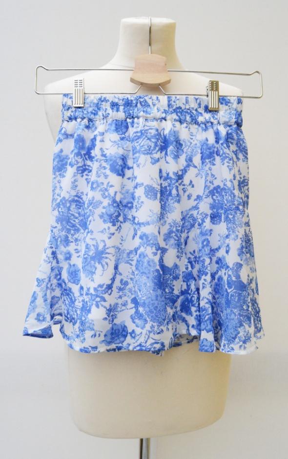 Spódnice Spódnica Rozkloszowana XS 34 Gina Tricot Kwiaty Bl