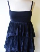 Sukienka Granatowa Falbanki H&M S 36 Granat...