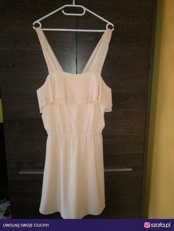Pudrowa sukienka M L