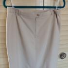 spódnica kremowa ołowkowa