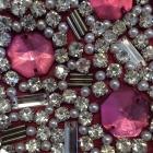 Lipsy London VIP krysztalki kamienie burgund nowa