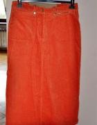 pomarańczowa spódnica dłuższa 42 44...