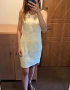 Elegancka koronkowa sukienka Mango S M...