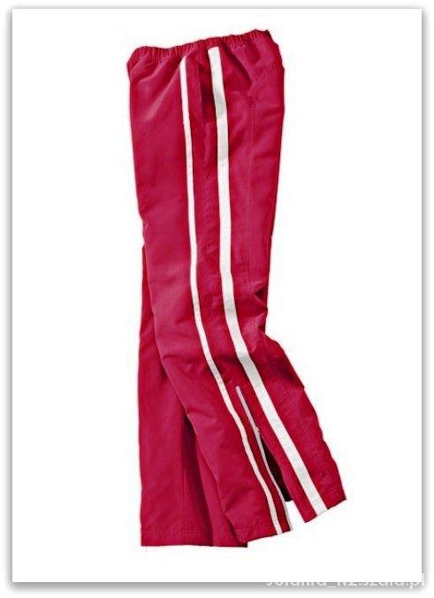 Dresy 44 46 Spodnie sportowe czerwone dresowe dresy