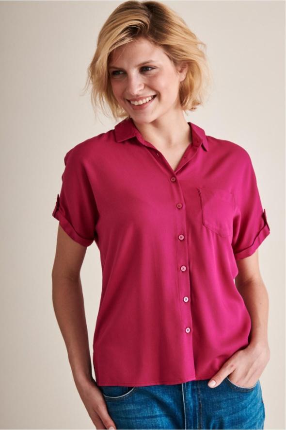 Koszule TATUUM różowa koszula koszulka nowa Ryaon dobry skład materiałowy