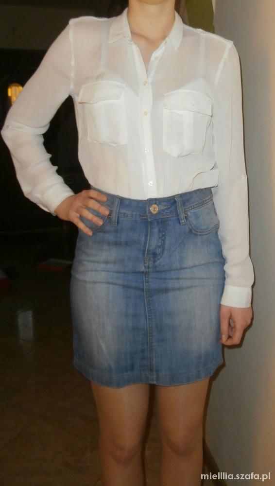 Spódnice Spódnica jeansowa mini jasna