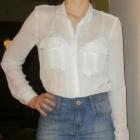 Spódnica jeansowa mini jasna