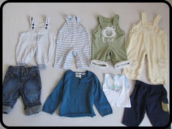 Ubranka dla chłopca ogrodniczki x4 sweter Zara spo...