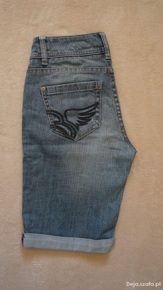 Spodenki ESPRIT dżinsowe spodenki ze skrzydłami wysoki stan
