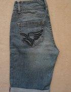 ESPRIT dżinsowe spodenki ze skrzydłami wysoki stan