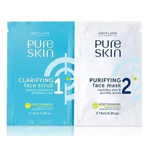 NOWA saszetka Krem peelingujący i oczyszczająca maseczka Pure Skin