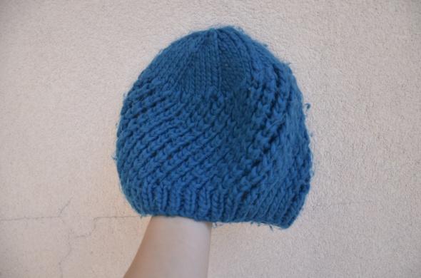 HOUSE czapka beanie niebieska