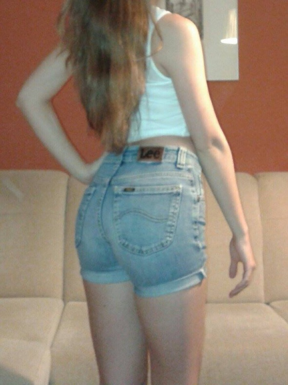 Spodenki Lee krótkie spodenki szorty jeansowe wysoki stan