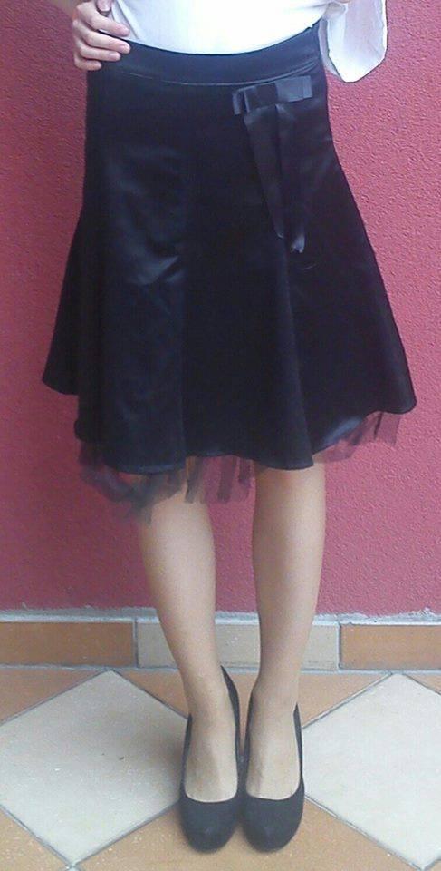 Spódnice Czarna elegancka tiulowa spódnica spódniczka tiul