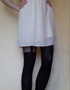 Zara biała pudrowa grecka luźna sukienka suknia...