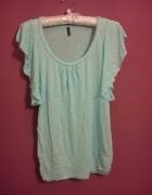 Amisu miętowa mint baby blue motyl koszulka tshirt...