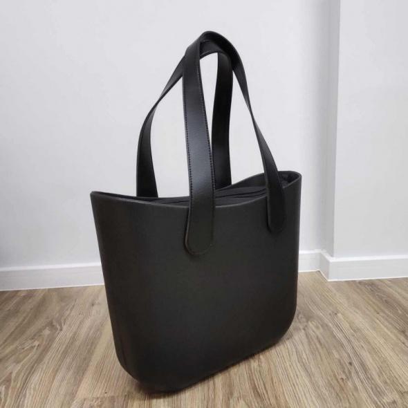 TORBA shopper gumowa jelly bag czarna wiosna wielkanoc prezent