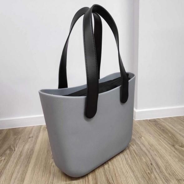 TORBA shopper gumowa jelly bag szara wiosna wielkanoc prezent