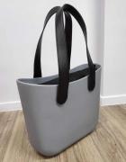 TORBA shopper gumowa jelly bag szara wiosna wielkanoc prezent...