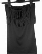 Super modny czarny top z frędzlami New Look