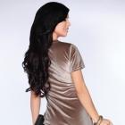Welurowa beżowa sukienka S M L XL