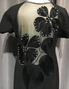 Sukienka nowa r44 czarny plecy