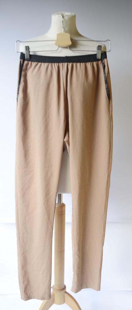 Spodnie Brązowe S 36 Eleganckie Norr Wizytowe...