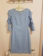 Sukienka komunia wesele błękitna