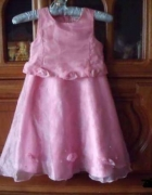 Różowa na bal sukienka 116