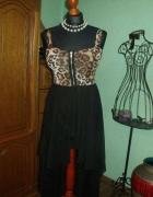 Długa asymetryczna suknia 36 38...