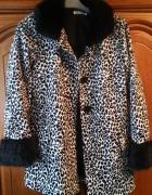Płaszcz czarno biały panterka 146 H&M...