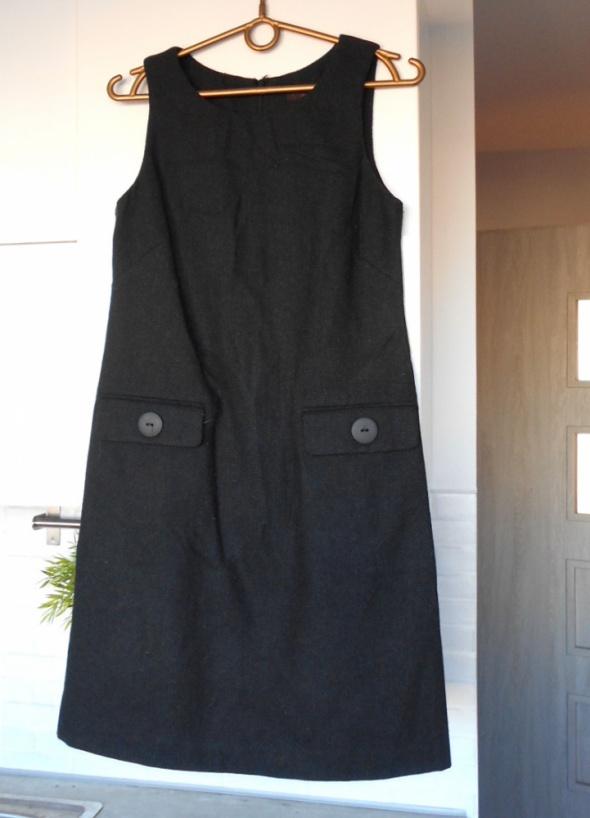 Great Plains sukienka wełniana retro guziki wełna