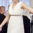 Śliczna kremowa sukienka MOLTON 36 S