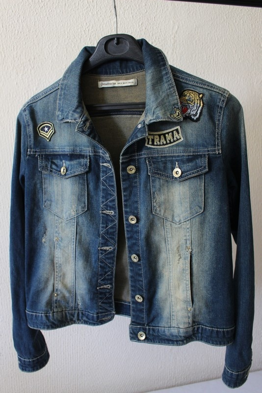 jeansowa kurtka cieniowana m